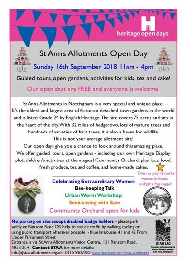 Photo: Illustrative image for the '[Nottingham] St.Ann's Allotments Open Day' page